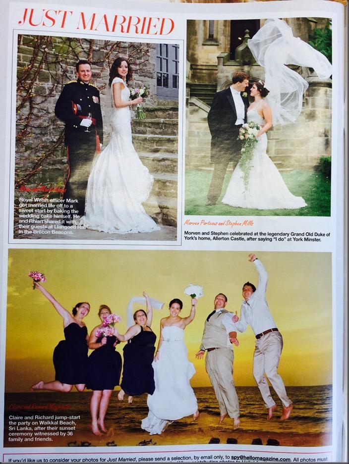 Morven & Stephen's Allerton Castle Wedding in Hello! Magazine