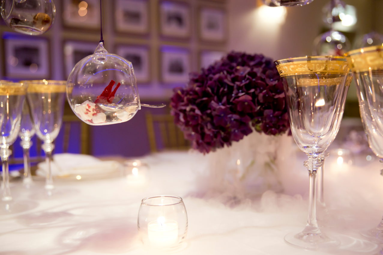 The 'WOW' entrance - dry ice effect flowers