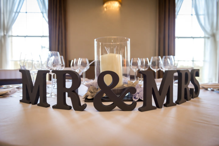 Mr & Mrs Letters - Mansion Wedding