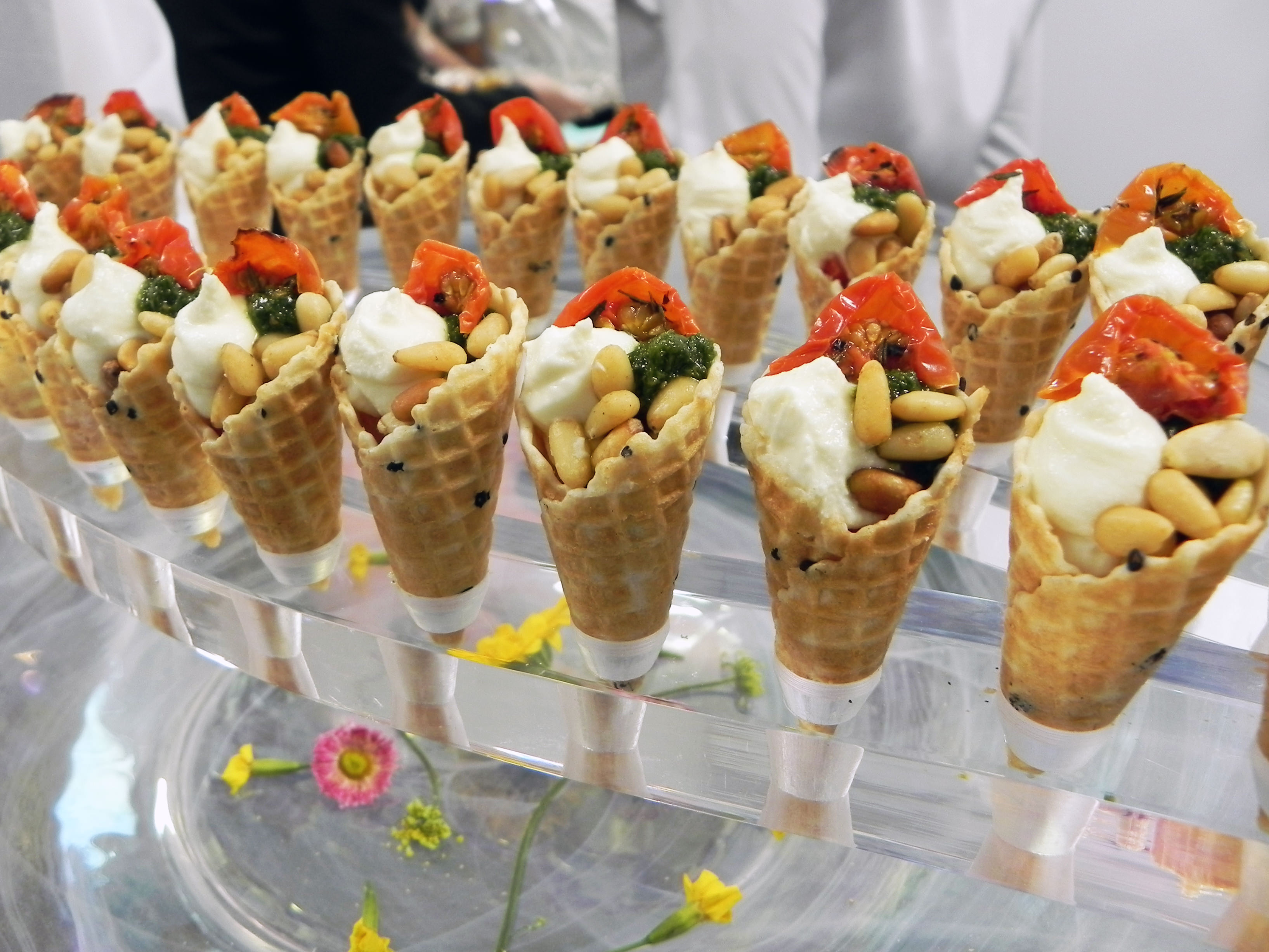 Caprini Goat's Cheese Canapes at Victoria Gate Launch