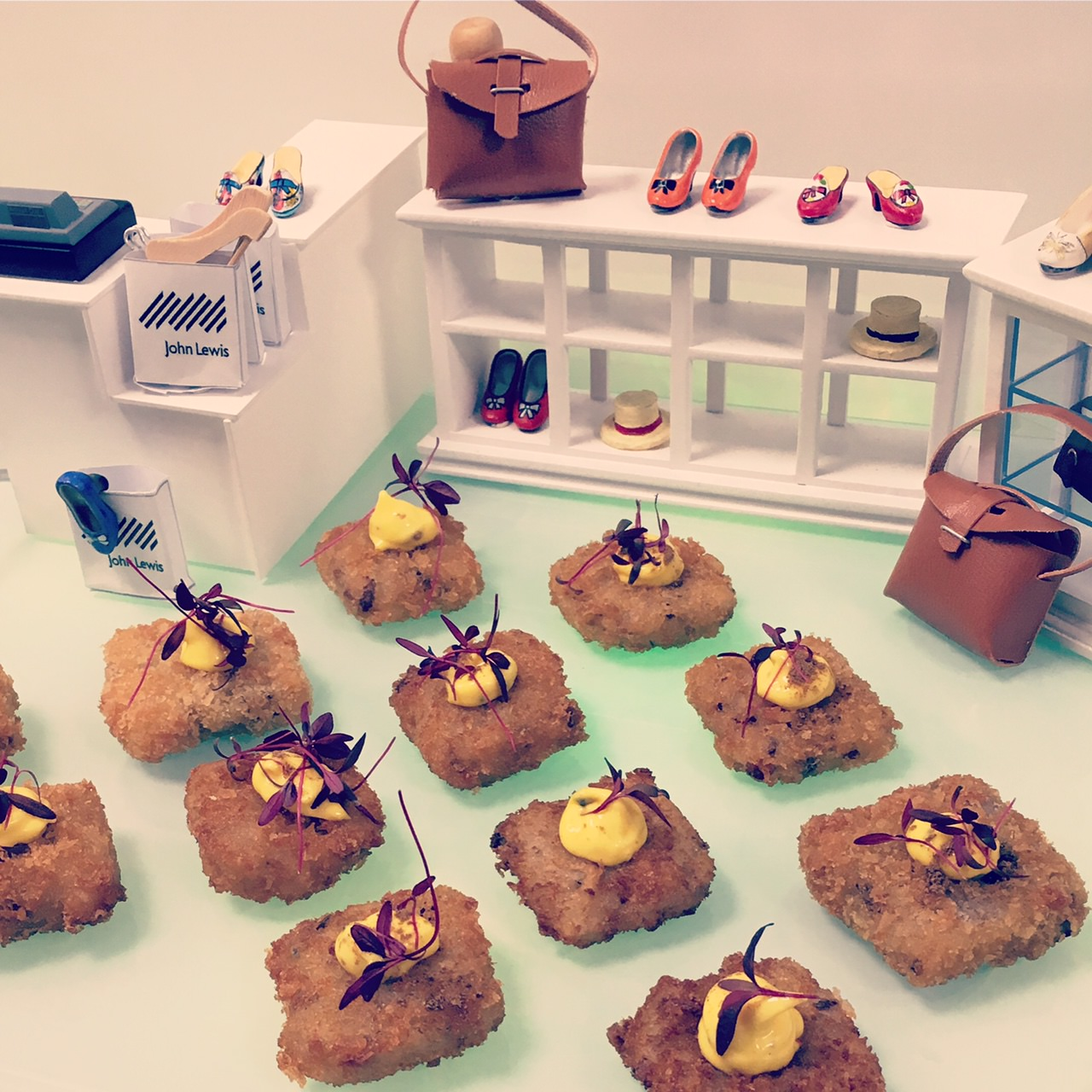 Canape Display for the John Lewis Leeds Launch