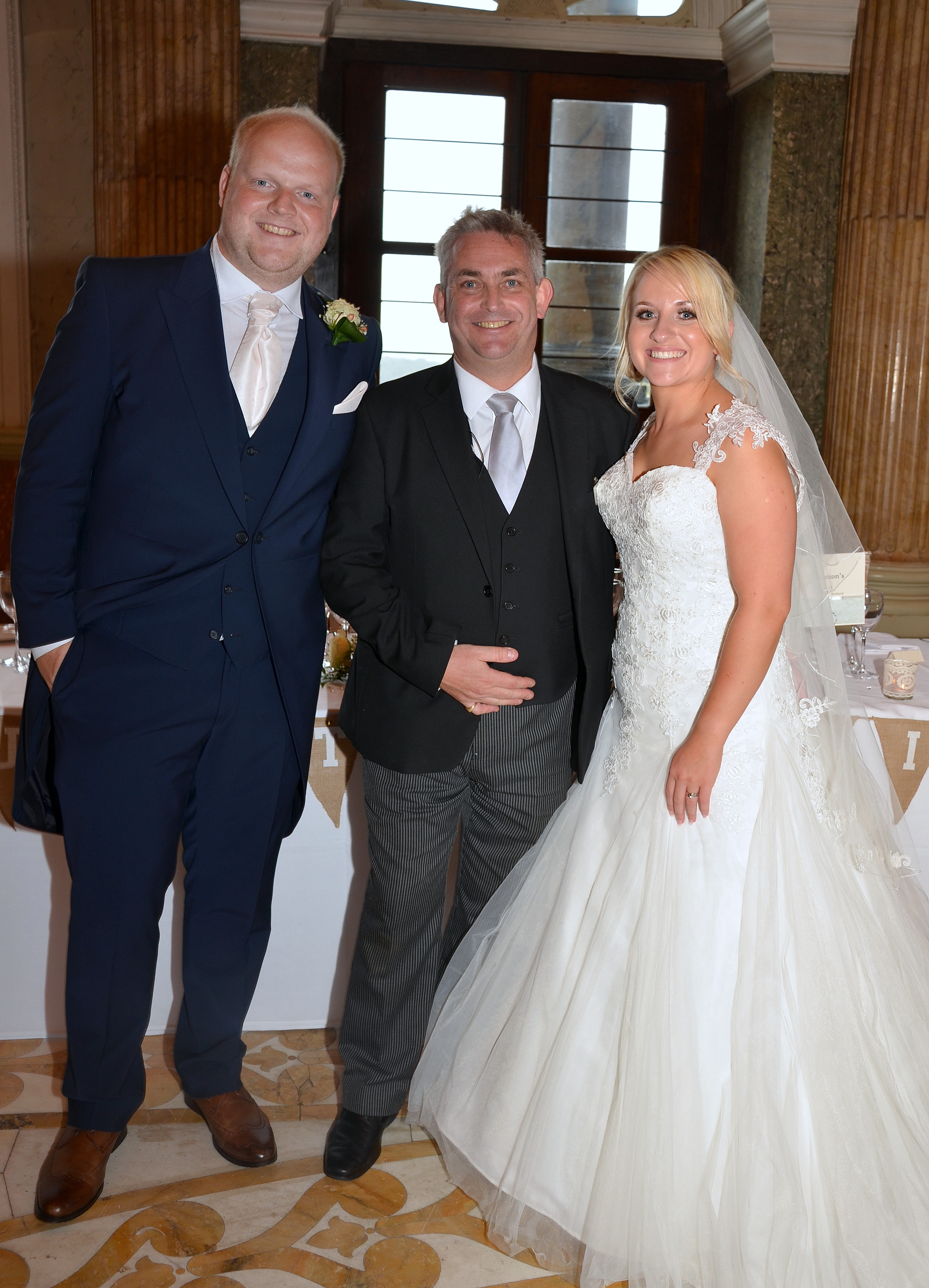 The happy couple with Dine's Head of Events, Craig Squelch