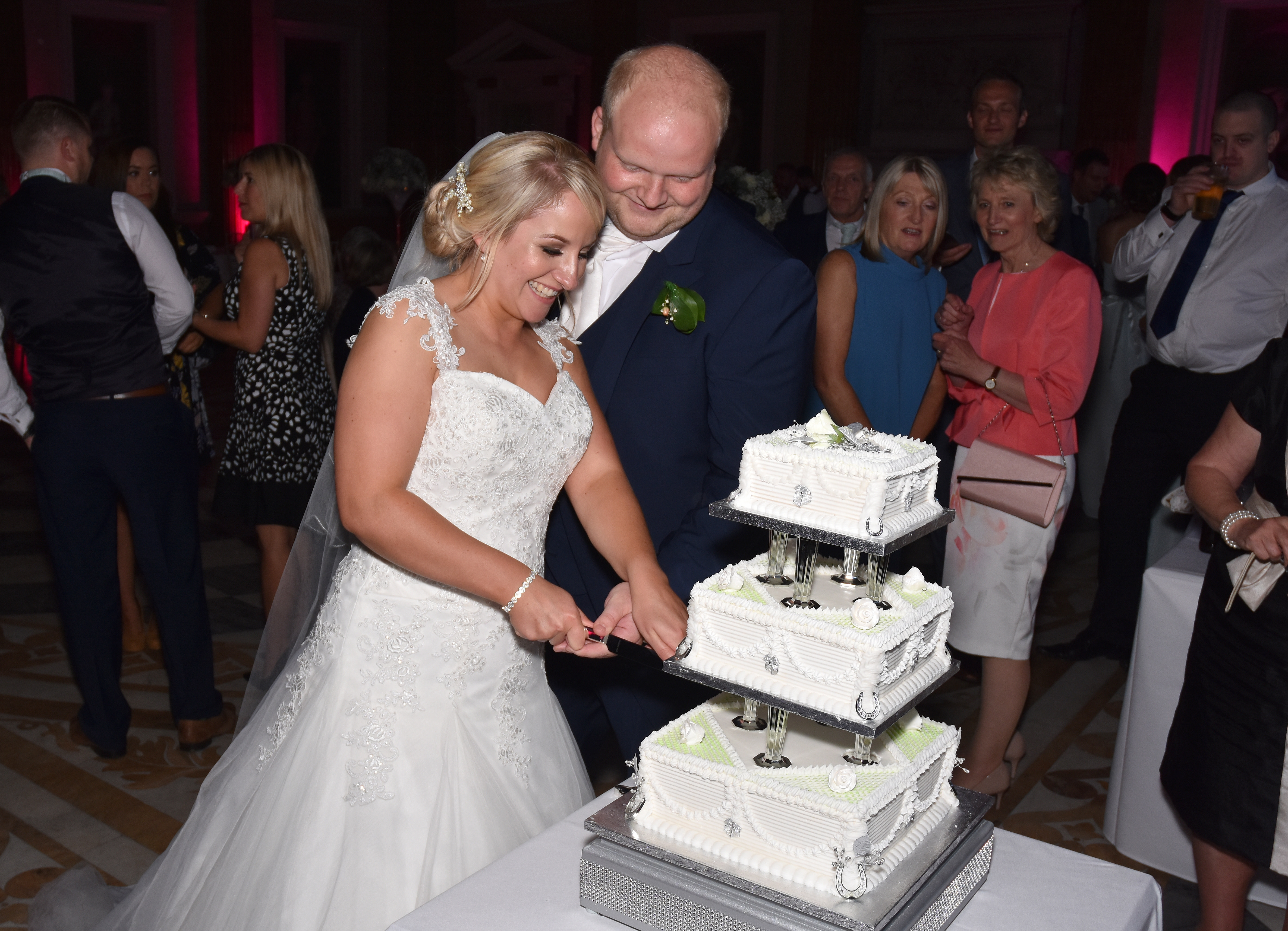 Cutting of the Cake - Nicola & Richard's Wedding at Wentworth Woodhouse