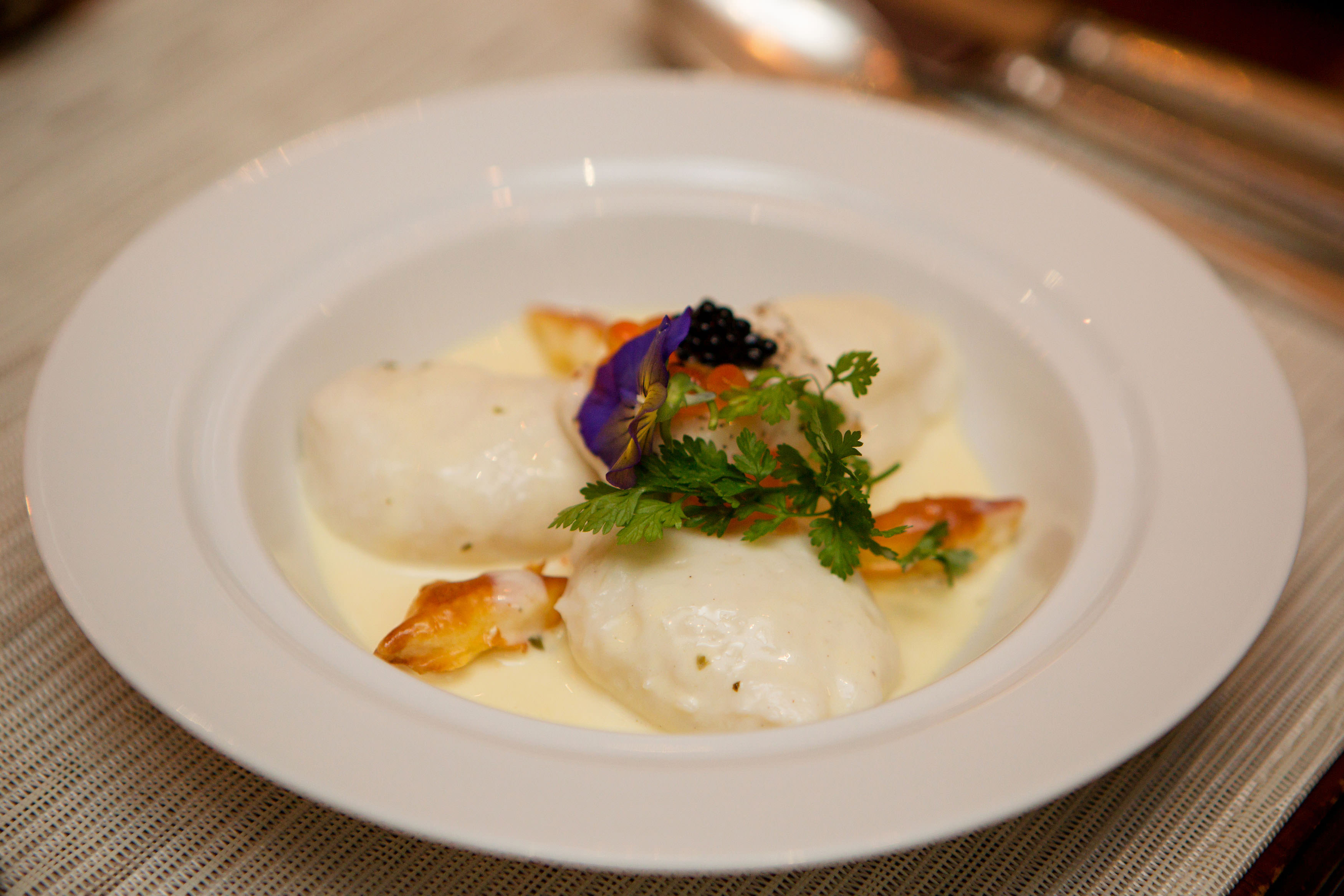 Ambassadors' Dinner - Regency Christmas Feast- Quenelles of Sole
