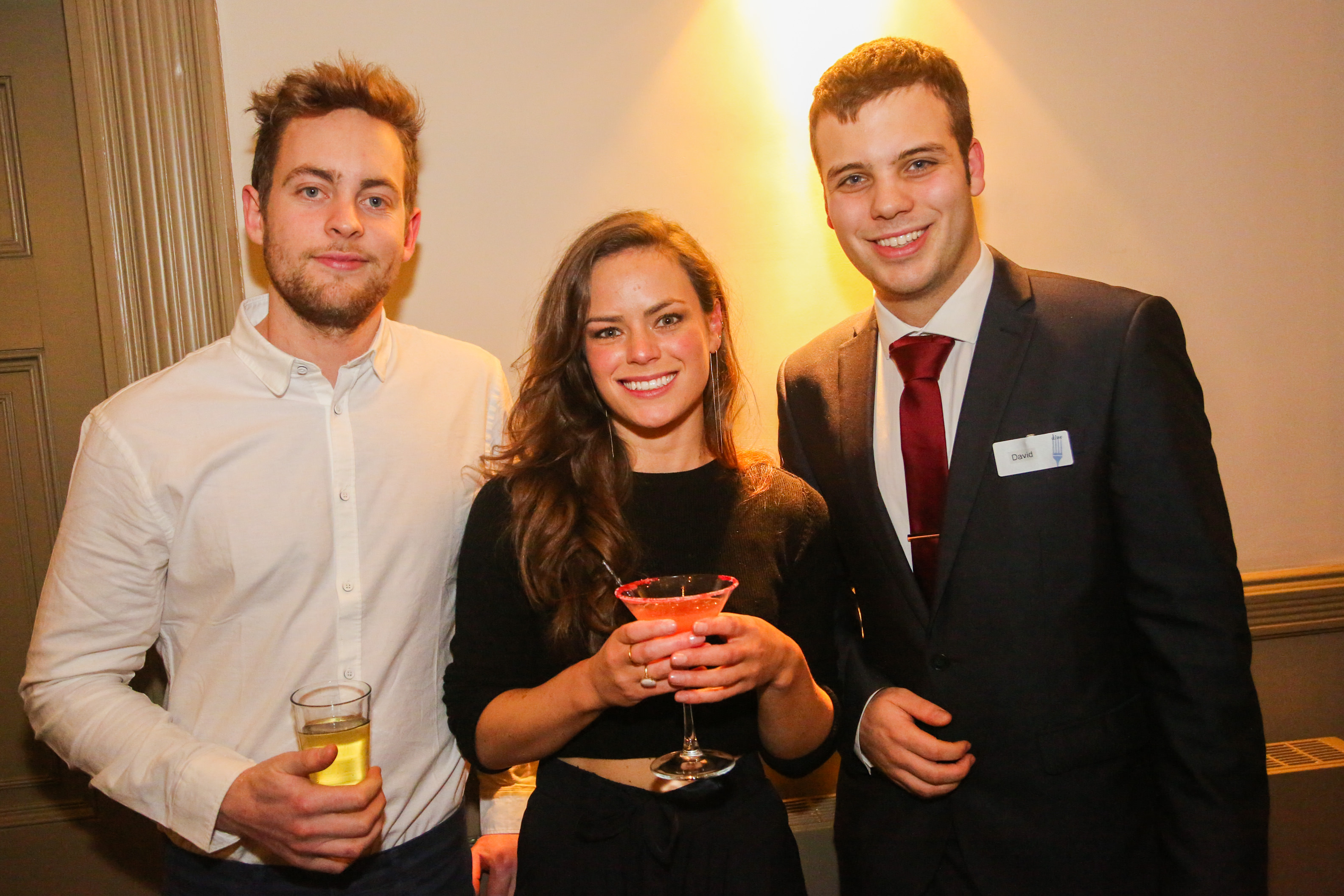 Tess from Right Angle Events with partner Tom and David from Dine