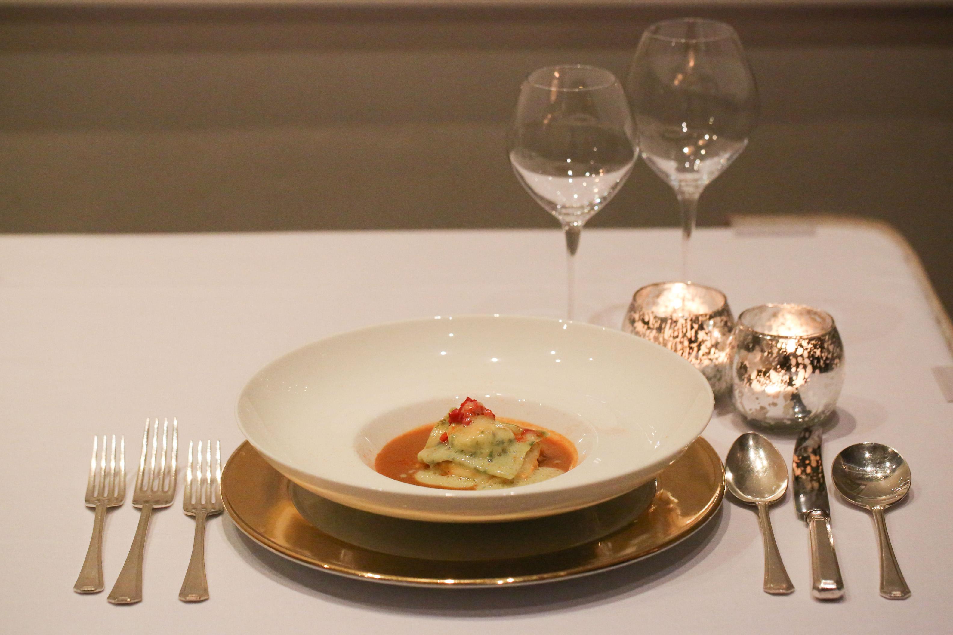 Whitby Crab Lasagne & Lobster Ravioli
