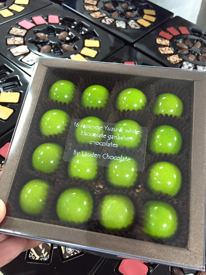 Japanese Yuzu & White Chocolate Ganache - Lauden Chocolates