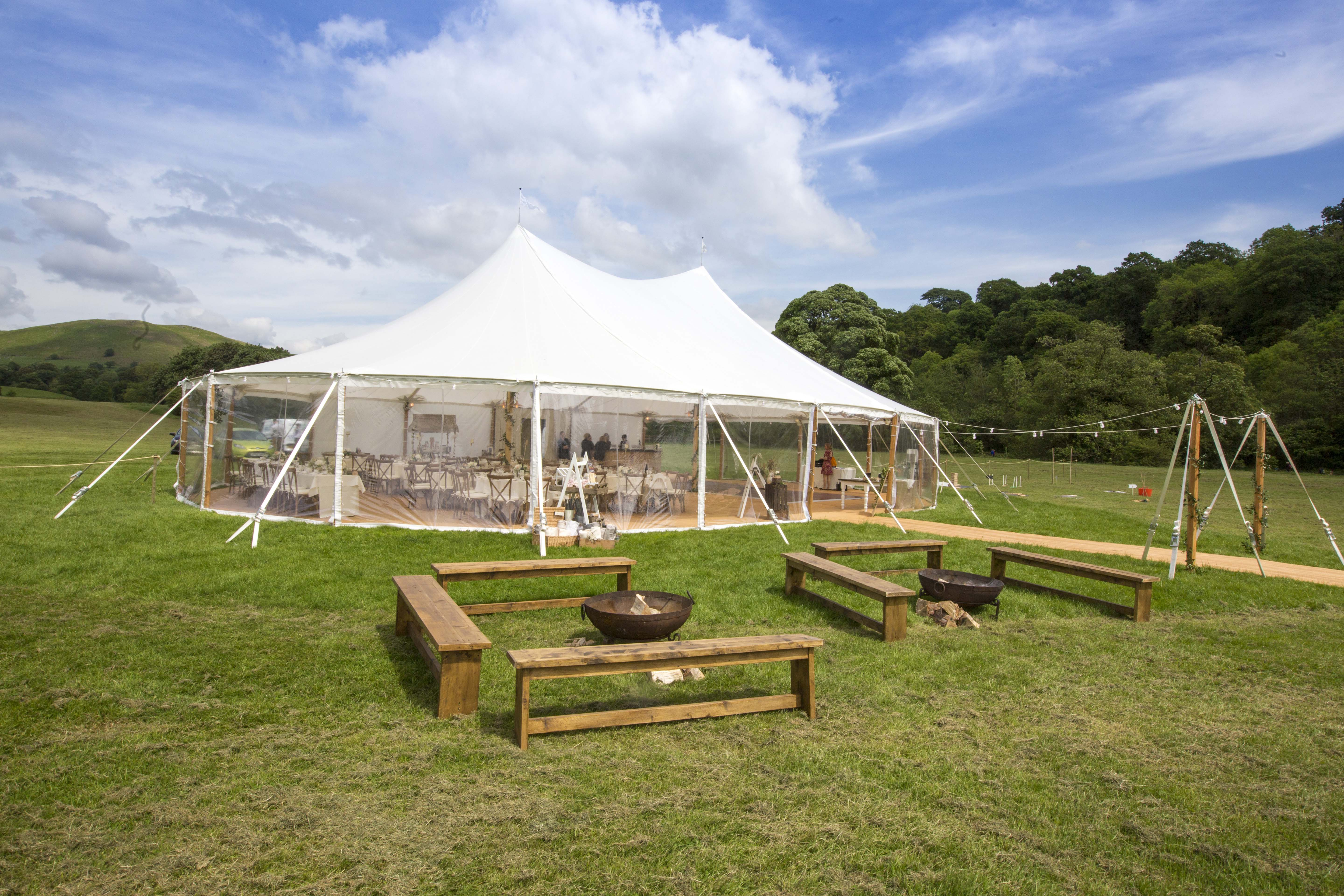 Fire pits - a popular choice for evening reception seating areas