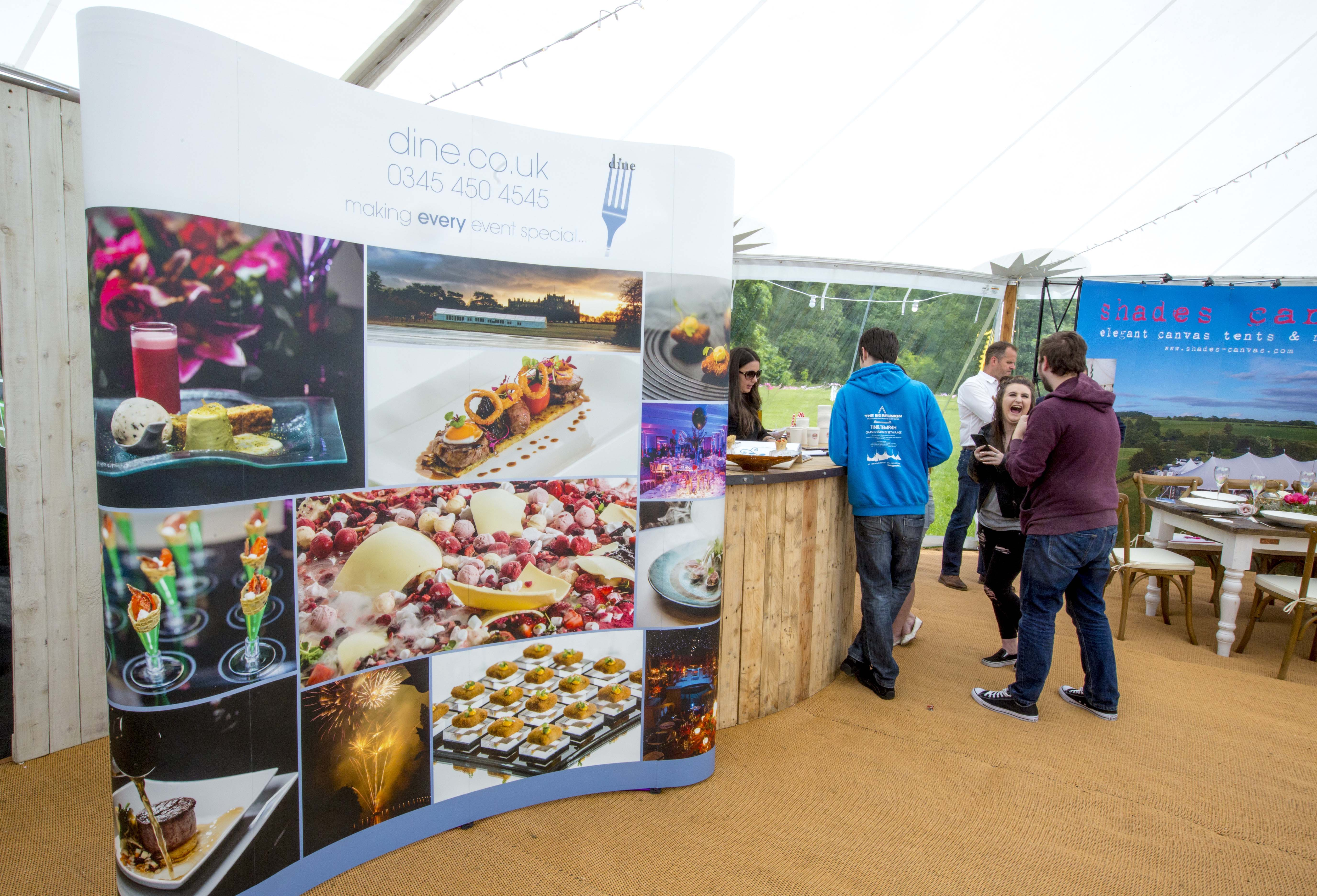 Dine catering & event management exhibition stand