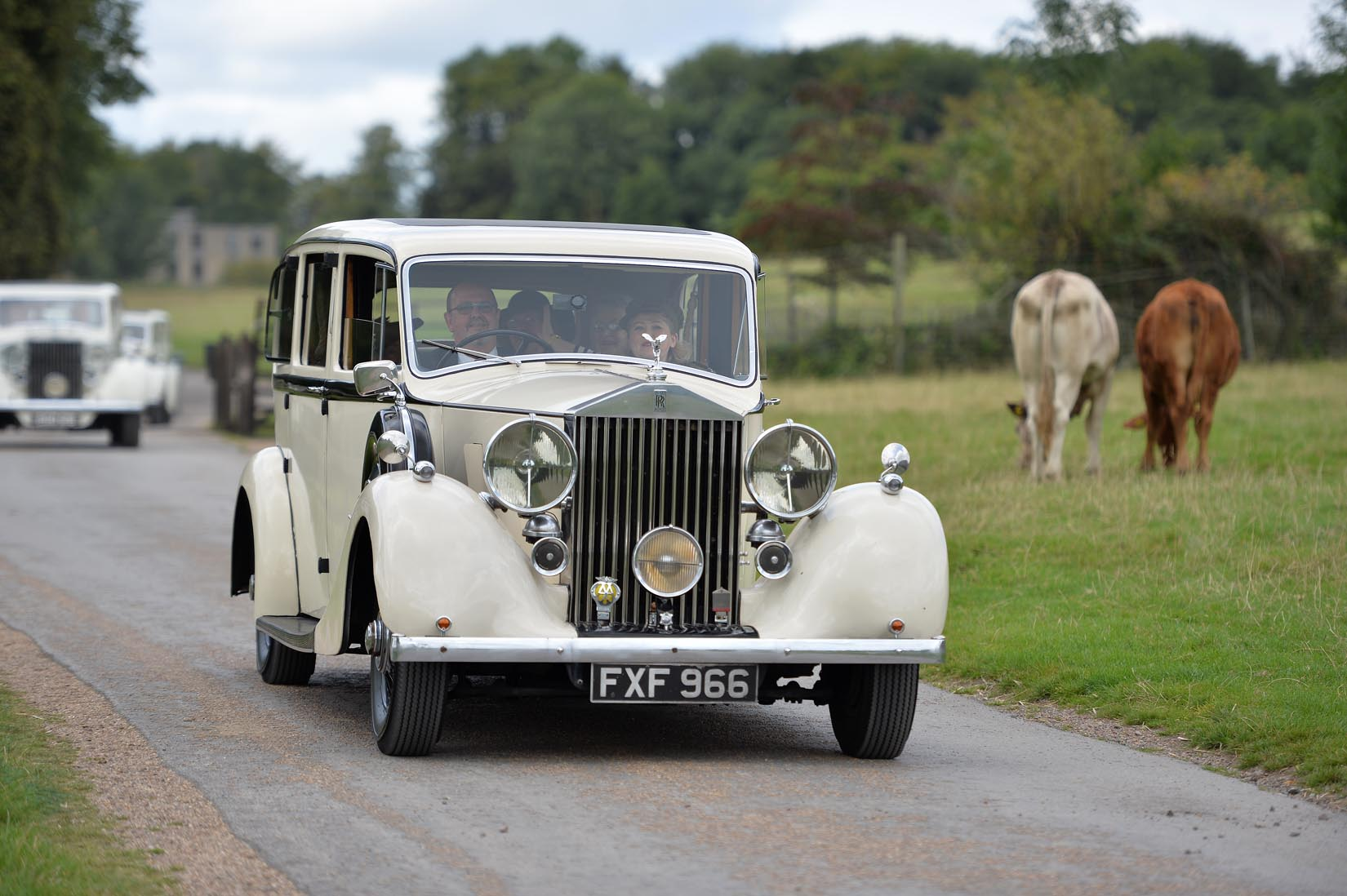 Arriving in style to the party in a fleet of Rolls-Royce's