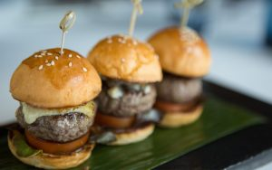 Bowl Food - Mini Burgers are an ideal option on a Sharing Menu Platter
