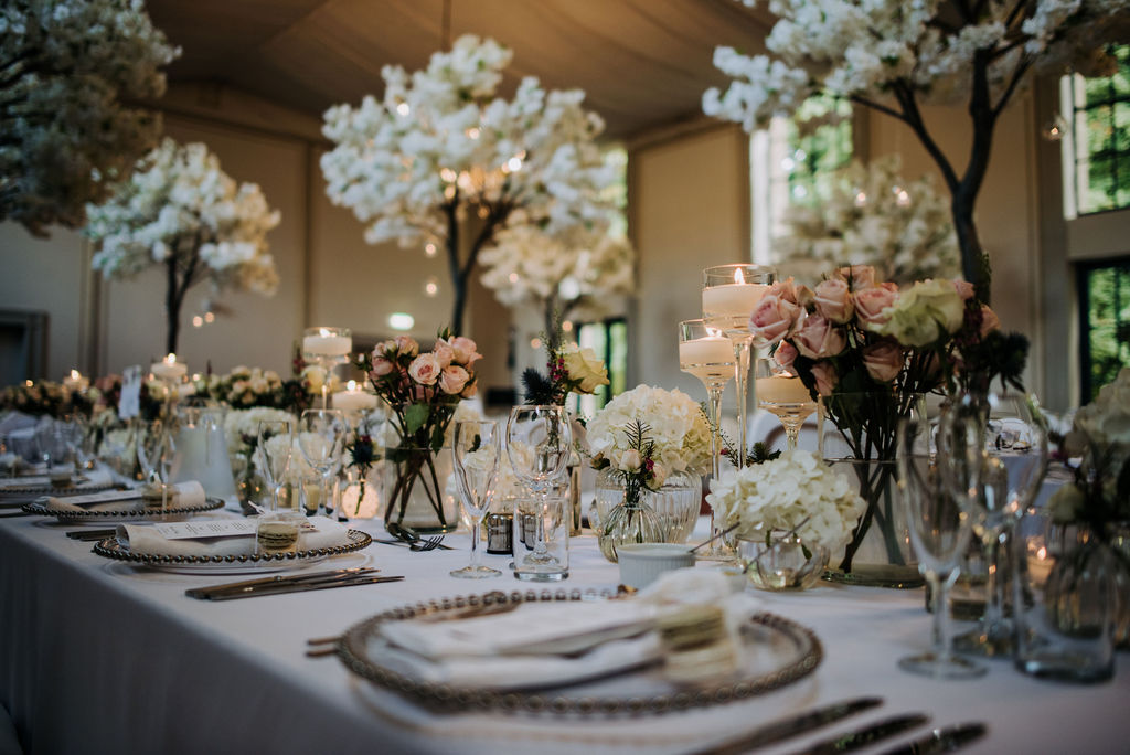 Fulford Flowers - Blossom Trees & Elegant Centerpieces - Rise Hall Wedding