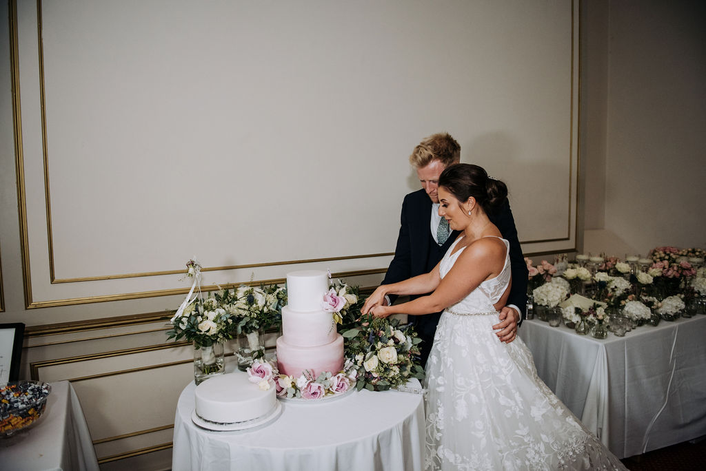 Cutting the cake - Juniper Cakery - Rise Hall Weddings