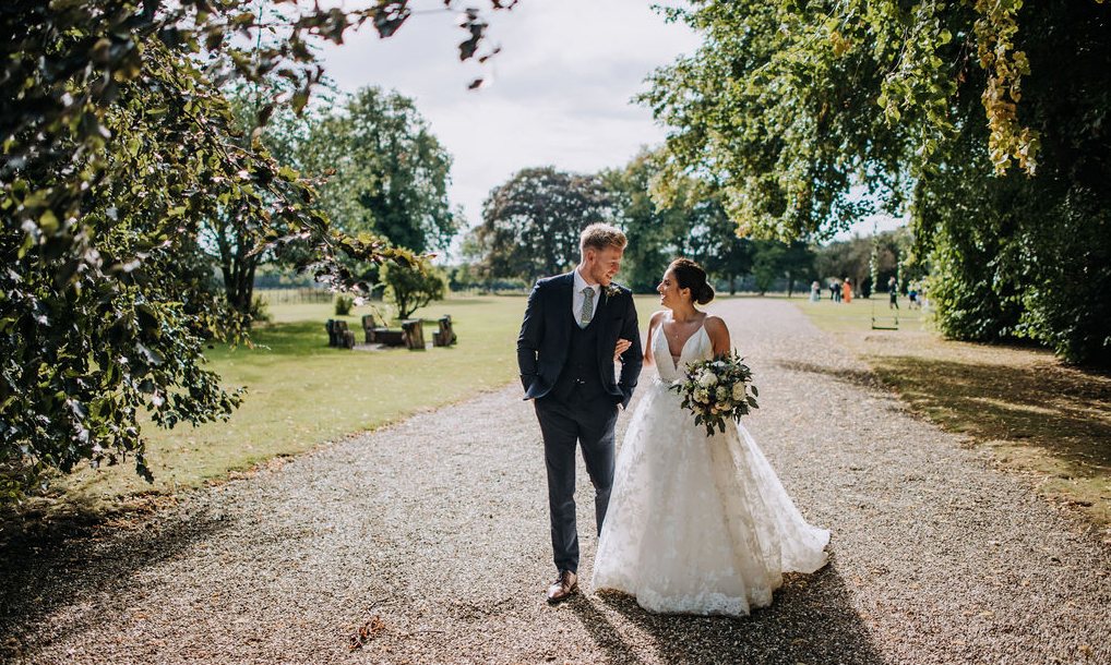 Taking a stroll in the grounds of Rise Hall - Wedding Venue East Yorkshire - Counrty House Weddings